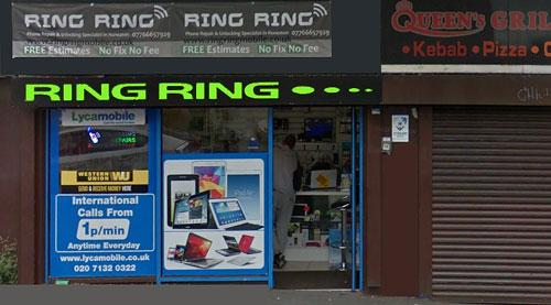 ring ring mobile repair shop front