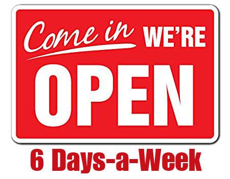 phone repairs shop open 6 days a week