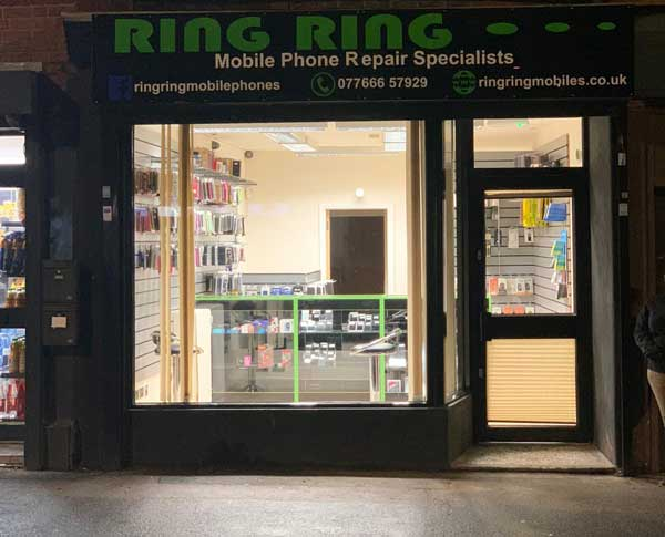 ring ring mobile repair shop front